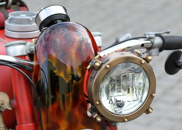 53 Dniepr K650 Fire Bike custom