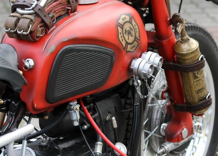 54 Dniepr K650 Fire Bike custom