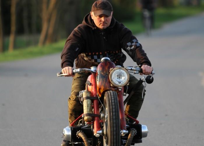 56 Dniepr K650 Fire Bike custom