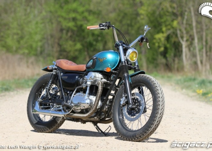 13 Kawasaki W 650 Flying Duxe custom bobber