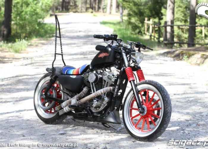 07 Custom Harley Davidson Sportster przod