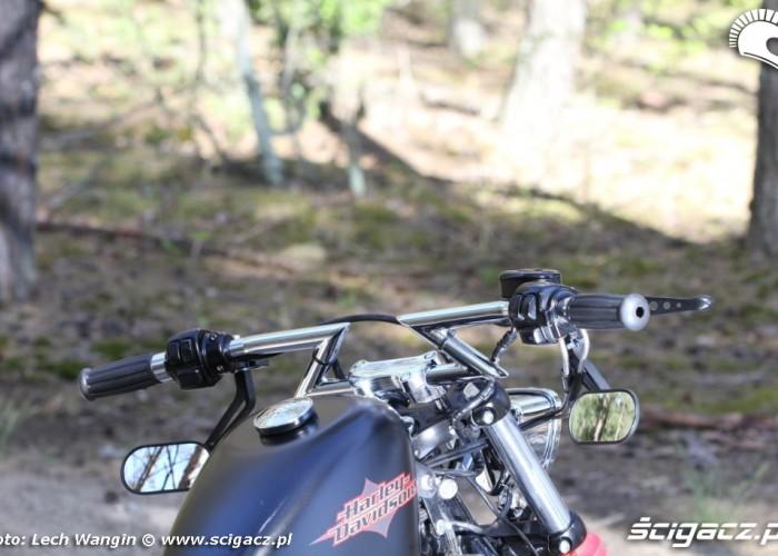 27 Custom Hell Ride Harley Davidson Sportster kierownica