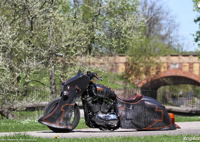 22 Harley Davidson Sportster custom na lonie natury
