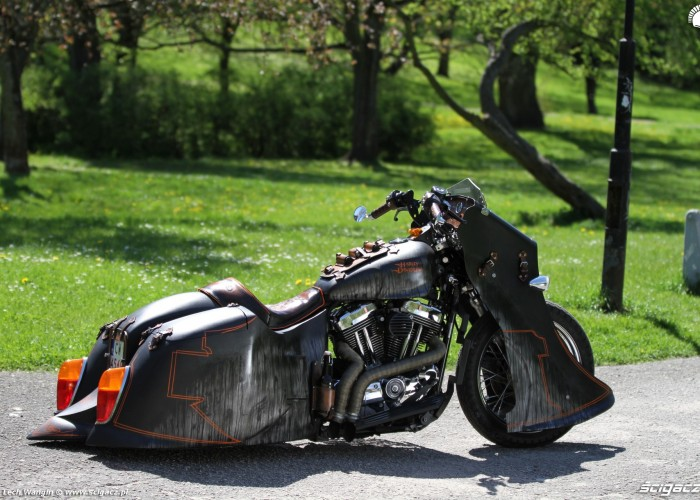 33 Harley Davidson Sportster 1200 Led Sled custom