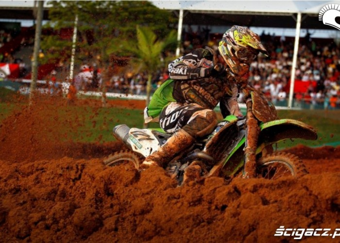 Bloto Mistrzostwa Swiata MX w Brazyli 2012 Carrero