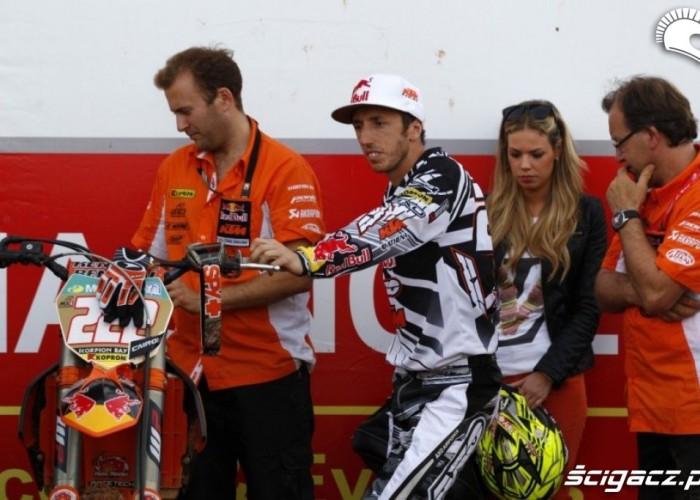 Mistrzostwa Swiata Motocross w Brazyli 2012 tony cairoli