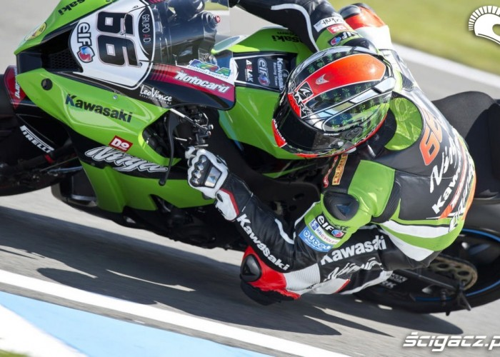 Donington Park Superbike kawasaki kolano