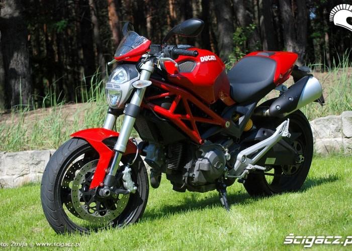 Ducati Monster pasie sie na trawie