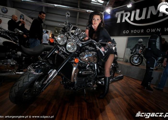 hostessa Triumph III Ogolnopolska wystawa Motocykli i Skuterow