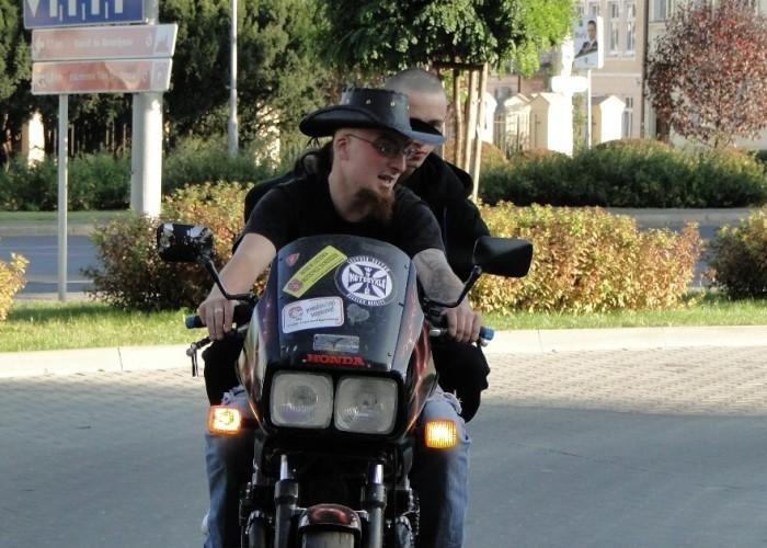 jazda na motocyklu