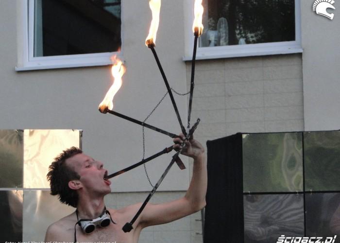 polykanie ognia