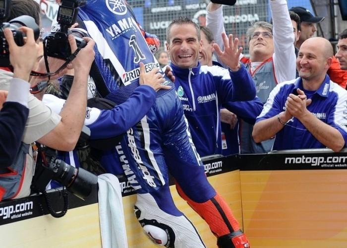 Jorge Lorenzo wygral - radosc po gp hiszpanii 2011