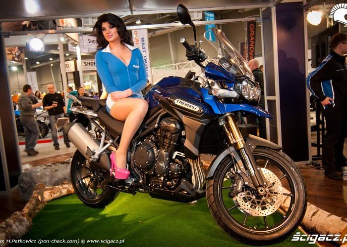 triumph hostessa targi motocyklowe