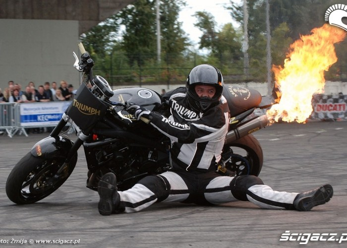 Triumph stunt rider Kevin Carmichael