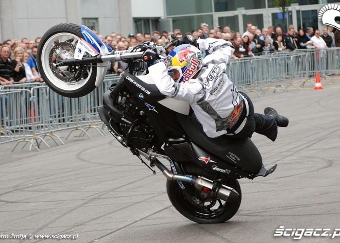 World Champion stunt rider Chris Pfeiffer