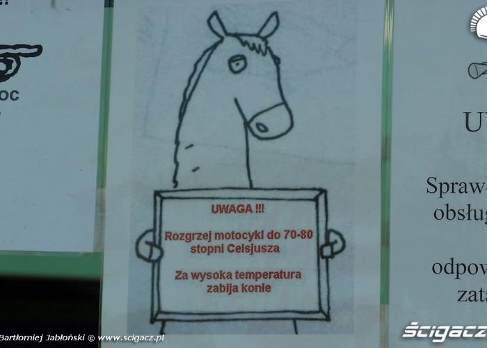 hamownia ostrzezenie Poznan 2011 - Motocyklowa Niedziela Na BP