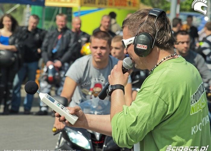 pomiar glosnosci Poznan 2011 - Motocyklowa Niedziela Na BP