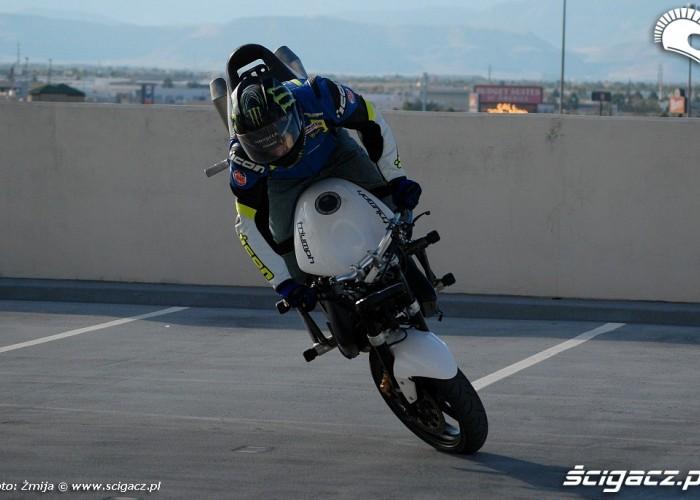 Stunt na Triumphie Nick Apex