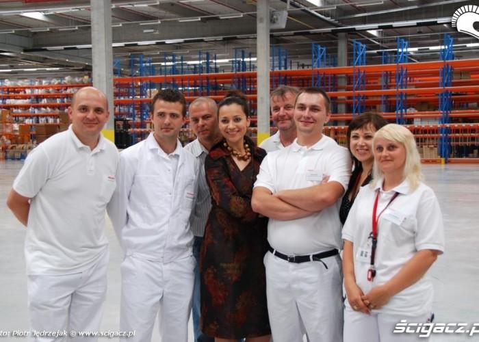 ekipa Honda Centrum Logistyczne Pniewy