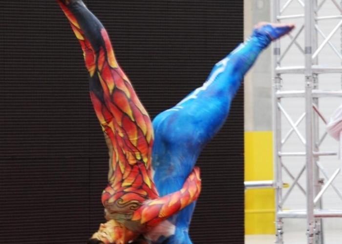 figura akrobacji Honda Centrum Logistyczne Pniewy
