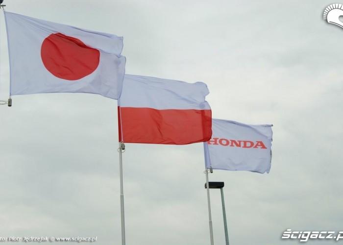 flagi Japonia Polska Honda Centrum Logistyczne Pniewy