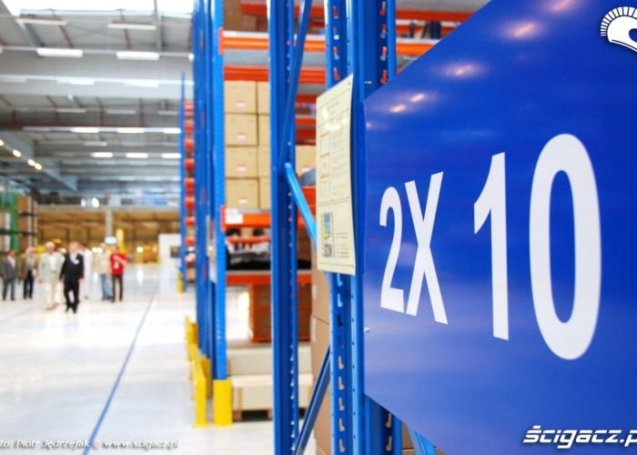 numerowanie regalow Honda Centrum Logistyczne Pniewy