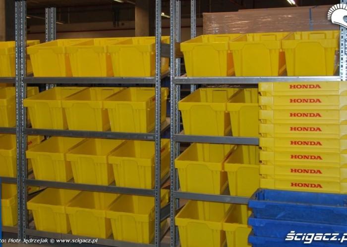 pudla do sortowania Honda Centrum Logistyczne Pniewy