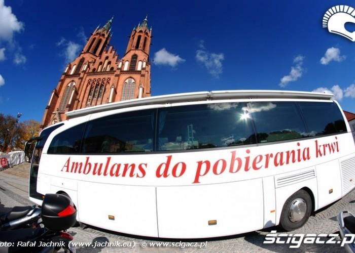 Ambulans do pobierania krwi Podlaskie Zakonczenie Sezonu Motocylkowego 2010 Bialystok
