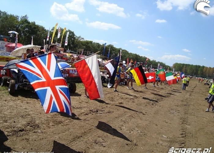 Flagi narodowe zawodnikow start pdv 2010