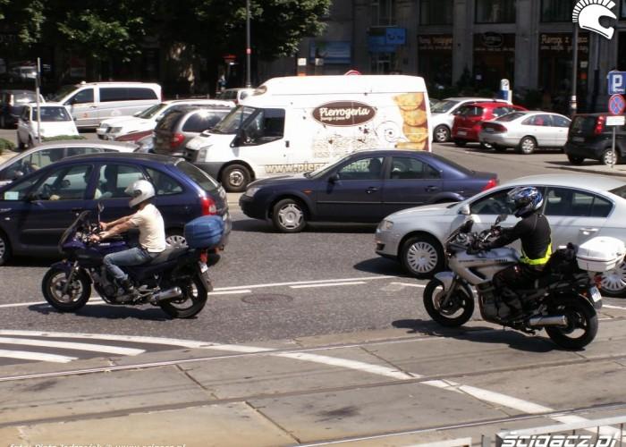 motocykl korek protest przeciwko oplatom na autostradach