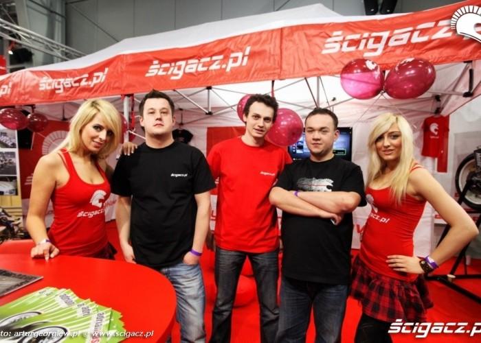 kawalek ekipy scigacz pl Targi Motocyklowe w Warszawie - III Ogolnopolska Wystawa Motocykli i Skuterow 2011