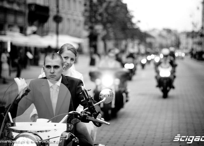 Krakowskie Przedmiescie i motocykle
