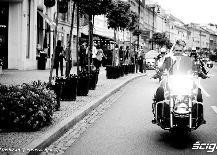Nowy Swiat i slubne motocykle
