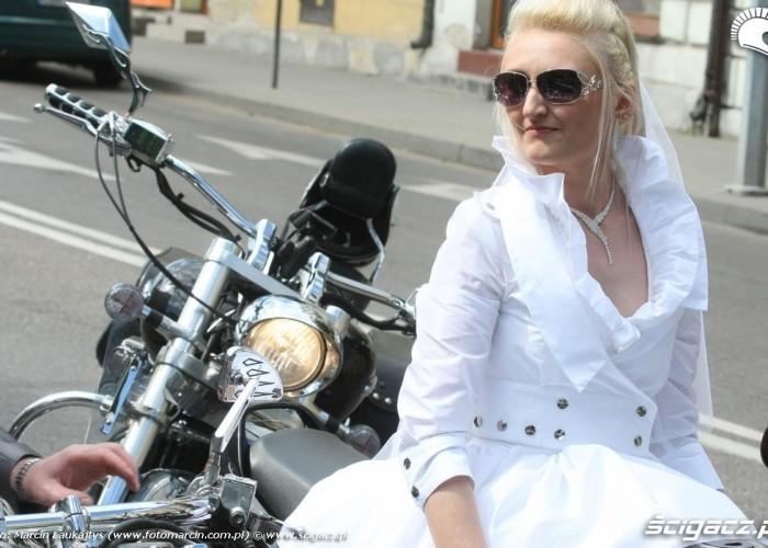 Zaneta slub na motocyklach