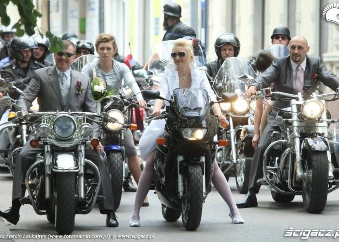 wesele na motocyklach Zaneta i Marcin