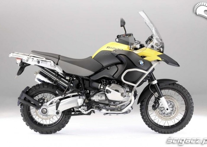 bmw r1200gs 2010 adventure zolty prawy bok