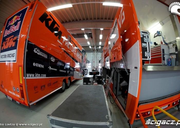 Ciezarowki serwisowe MX Fabryka KTM Mattighofen