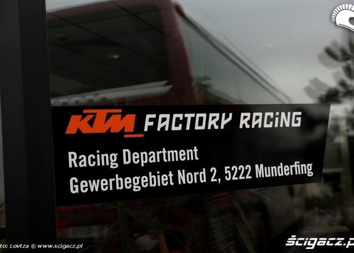 Fabryka KTM Mattighofen Factory Racing