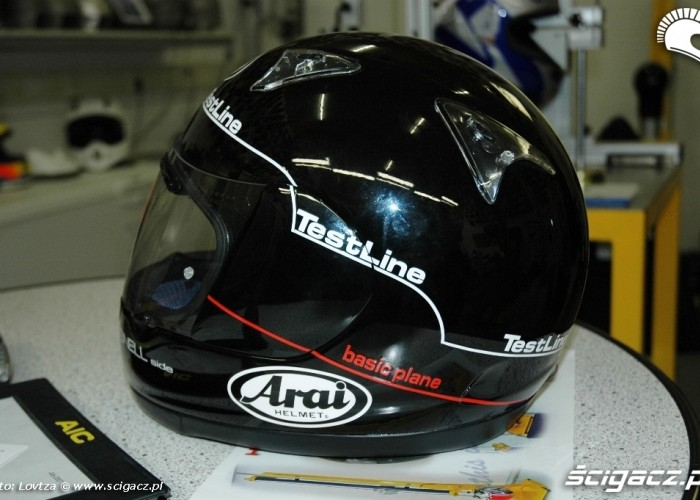 13 Arai Inspiration Center test snell dot