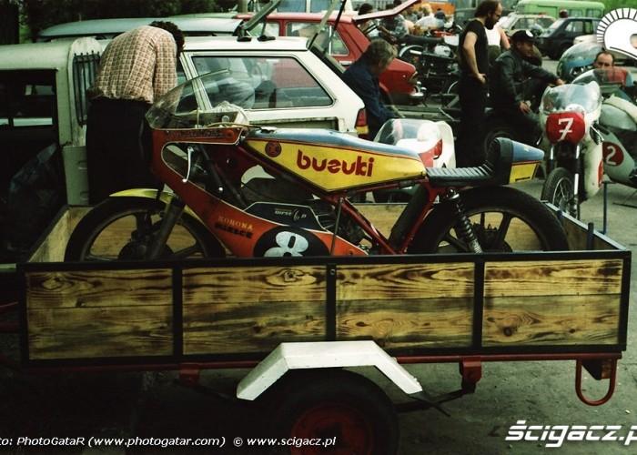 Motocykl wyscigowy lata 80