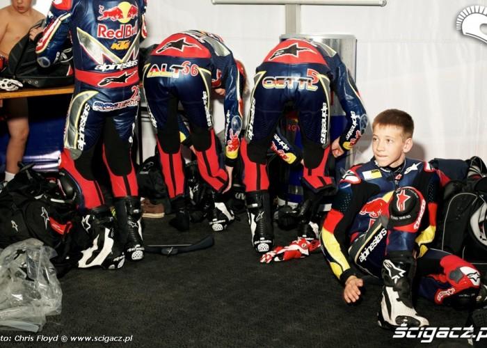 Przygotowanie do startu Red Bull Rookies Cup