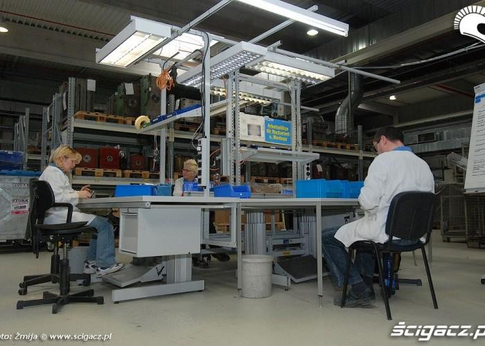 Miejsce pracy fabryka Schuberth
