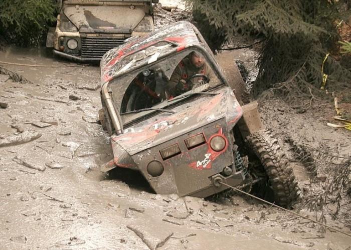 Great Escape Rally 2010 przeprawa samochodow