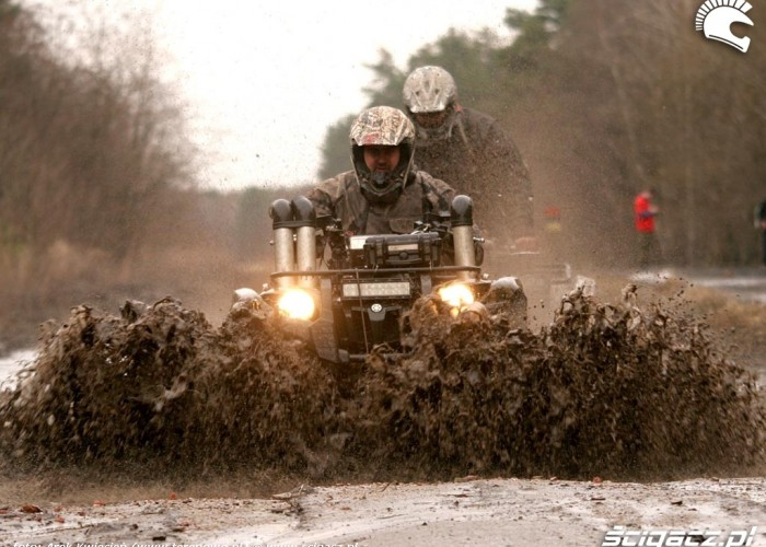 Yamaha Grizzly przeprawa Great Escape Rally 2010