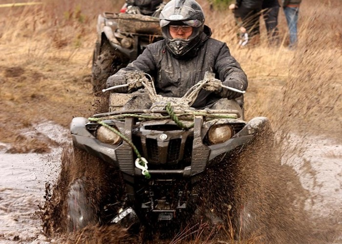 Yamaha Grizzly przeprawa great escape rally