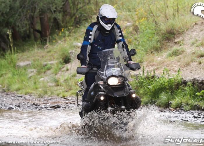 Michal Zoll przejazd przez wode