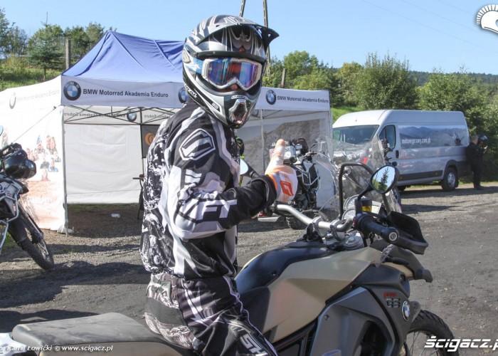 GS Trophy 2014 motocyklista