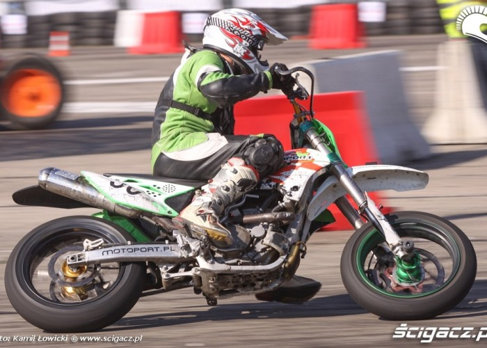 Motocyklista Supermoto Intercars Motor Show