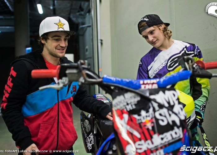 David Rinaldo i Alex Rune Porsing Diverse Night Of The Jumps Ergo Arena 2015