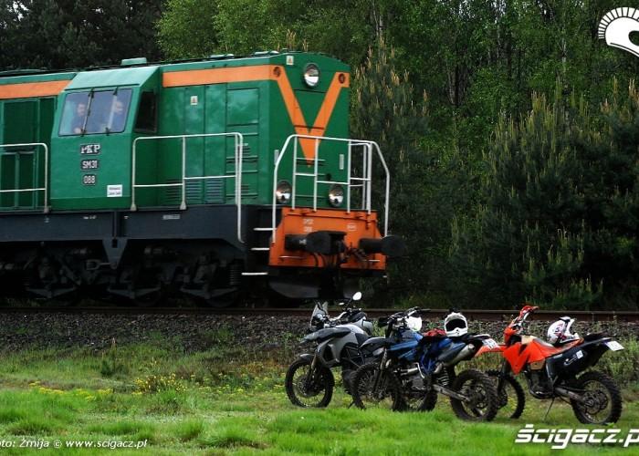 Motocykle i pociag